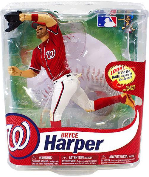 McFarlane Toys MLB Washington Nationals Sports Picks Series 31 Bryce Harper Action Figure [Red Jersey Gold Shoes]