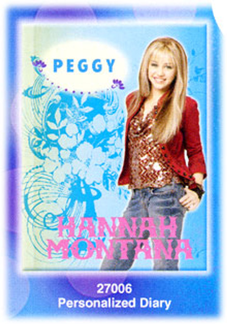 Disney Hannah Montana Personalized Diary #27006 [Blue]