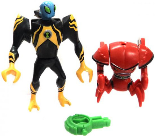 Ben 10 Alien Force Alien Creation Chamber Brainstorm & Lodestar Action Figures [No Package]