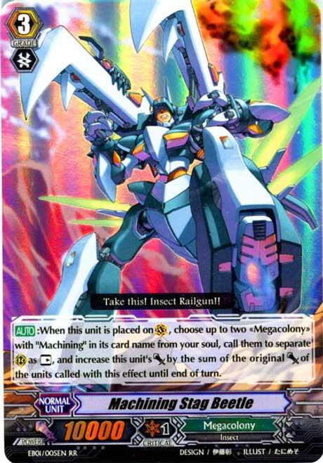 Cardfight Vanguard Comic Style Vol. 1 RR Rare Machining Stag Beetle EB01-005