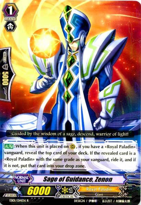 Cardfight Vanguard Comic Style Vol. 1 Rare Sage of Guidance, Zenon EB01-014