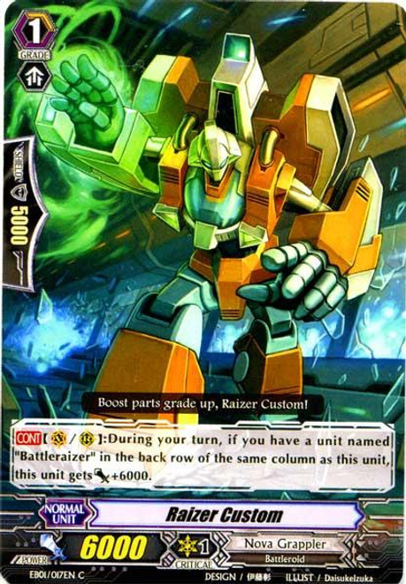 Cardfight Vanguard Comic Style Vol. 1 Common Raizer Custom EB01-017