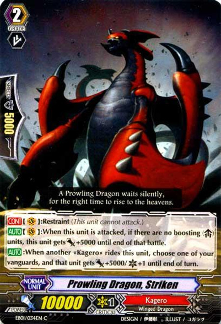 Cardfight Vanguard Comic Style Vol. 1 Common Prowling Dragon, Striken EB01-034