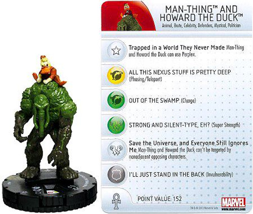 Marvel HeroClix Amazing Spider-Man Super Rare Man-Thing & Howard the Duck #047