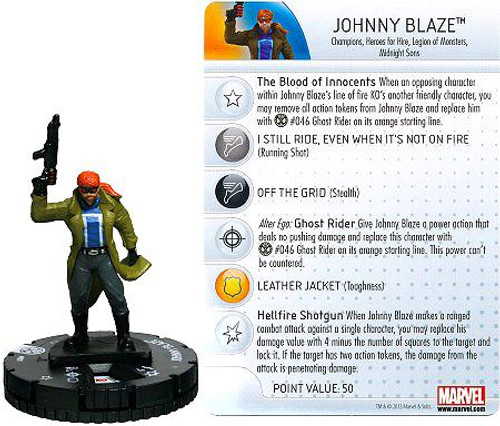 Marvel HeroClix Amazing Spider-Man Common Johnny Blaze #007