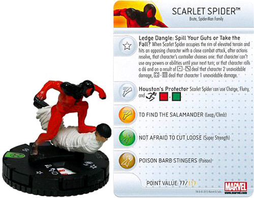 Marvel HeroClix Amazing Spider-Man Uncommon Scarlet Spider #018