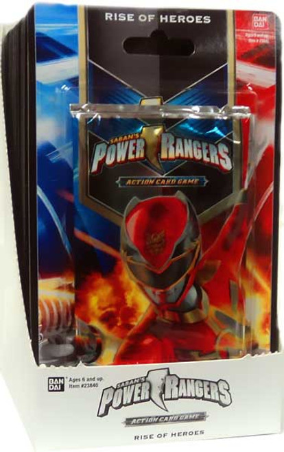 Power Rangers Action Card Game Rise of Heroes Booster Box