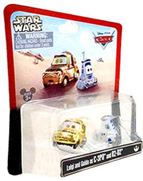 Disney Cars Star Wars Luigi & Guido as C-3PO & R2-D2 Exclusive Diecast Car 2-Pack