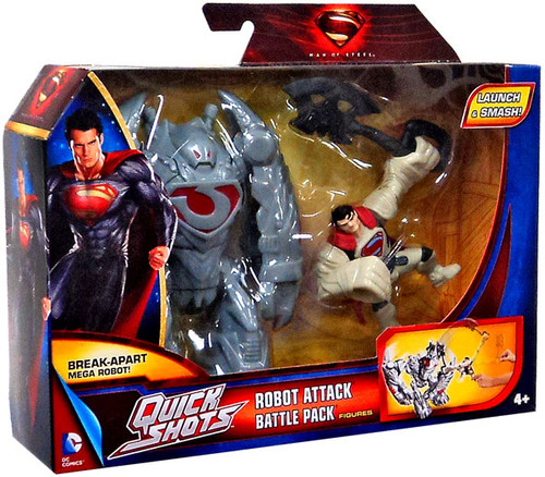 Superman Man of Steel Quick Shots Robot Attack Battle Pack