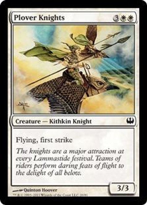 MtG Duel Decks: Knights vs. Dragons Common Plover Knights #20