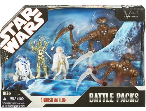 Star Wars The Clone Wars Battle Packs 2007 Ambush on Ilum Exclusive Action Figure Set