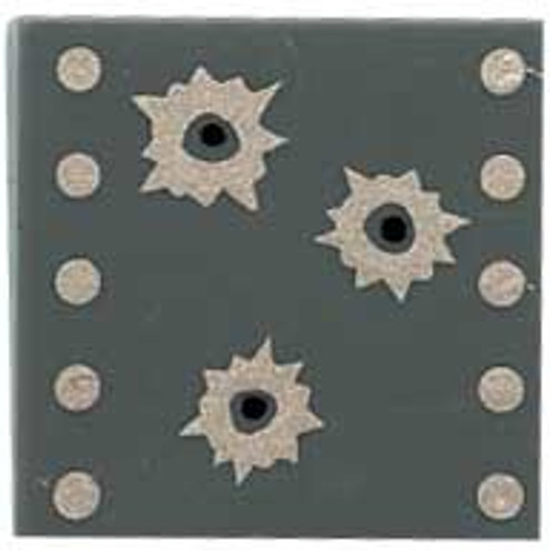 Citizen Brick Custom Painted Bullet Holes Tile Loose Accessory [Dark Gray]