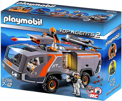 Playmobil Top Agents 2 Spy Team Command Vehicle Set #5286
