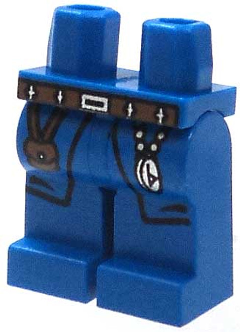 LEGO Castle Minifigure Parts Royal Blue Hips & Legs with Brown Pouch & Compass Loose Legs [Loose]