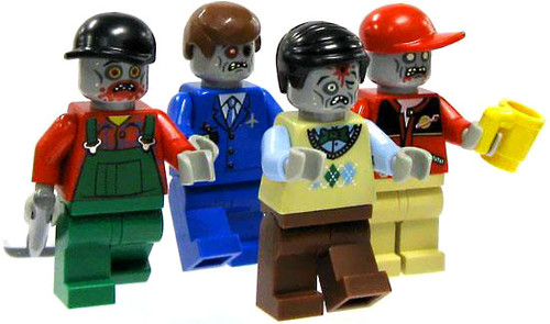 LEGO Loose 1 Single Zombie Minifigure [Random, Past Life Accessory]