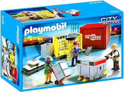 Playmobil City Action Cargo Loading Team Set #5259
