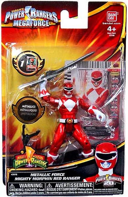 Power Rangers Megaforce Metallic Force Mighty Morphin Red Ranger Action Figure
