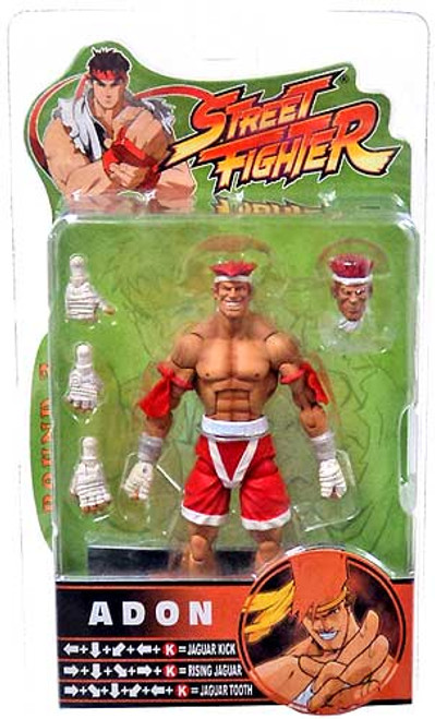 Street Fighter Series 3 Adon Action Figure [Red Shorts]