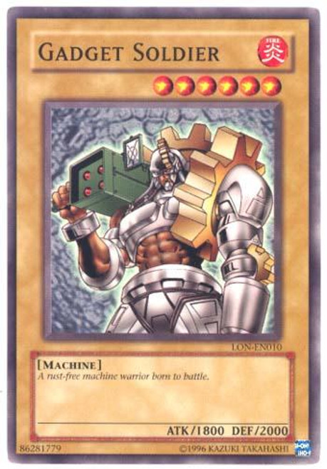 YuGiOh Labyrinth of Nightmare Common Gadget Soldier LON-010