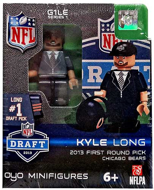 Chicago Bears NFL 2013 Draft First Round Picks Kyle Long Minifigure