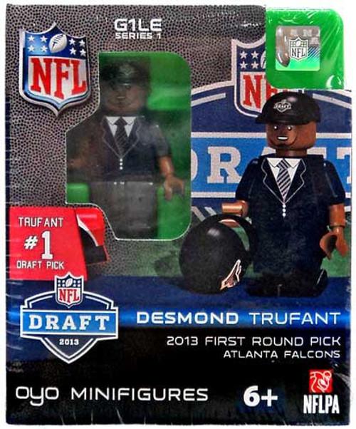 Atlanta Falcons NFL 2013 Draft First Round Picks Desmond Trufant Minifigure