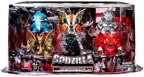 Godzilla Chibi Super Deformed Mini Figure 6-Pack