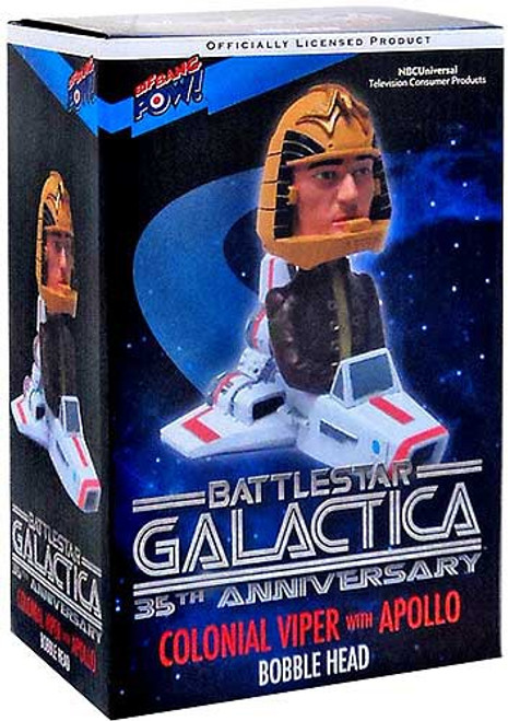 Battlestar Galactica 35th Anniversary Colonial Viper with Apollo Bobble Head