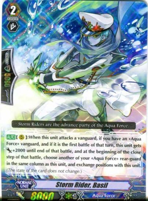 Cardfight Vanguard Blue Storm Armada RRR Rare Storm Rider, Basil BT08-007