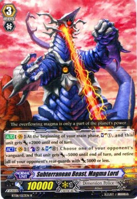 Cardfight Vanguard Blue Storm Armada Rare Subterranean Beast, Magma Lord BT08-023