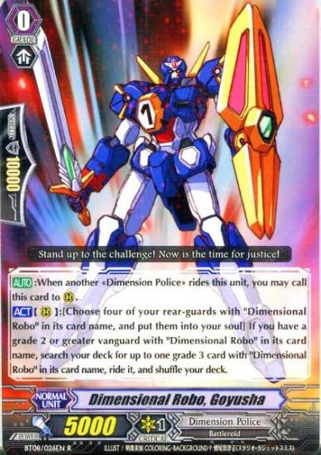 Cardfight Vanguard Blue Storm Armada Rare Dimensional Robo, Goyusha BT08-026