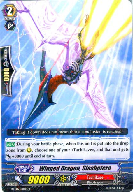 Cardfight Vanguard Blue Storm Armada Rare Winged Dragon, Slashptero BT08-031