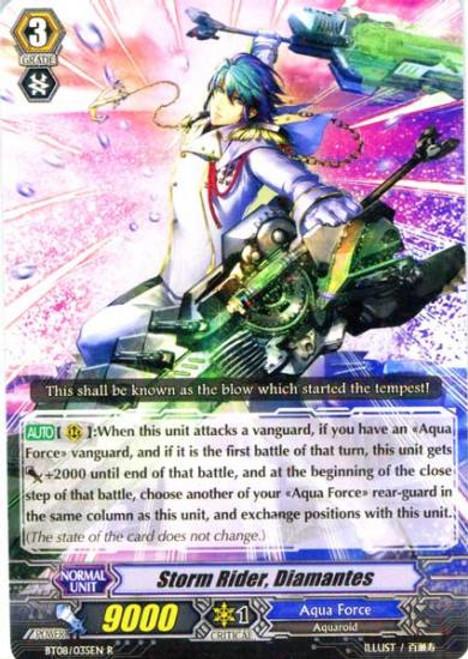 Cardfight Vanguard Blue Storm Armada Rare Storm Rider, Diamantes BT08-035
