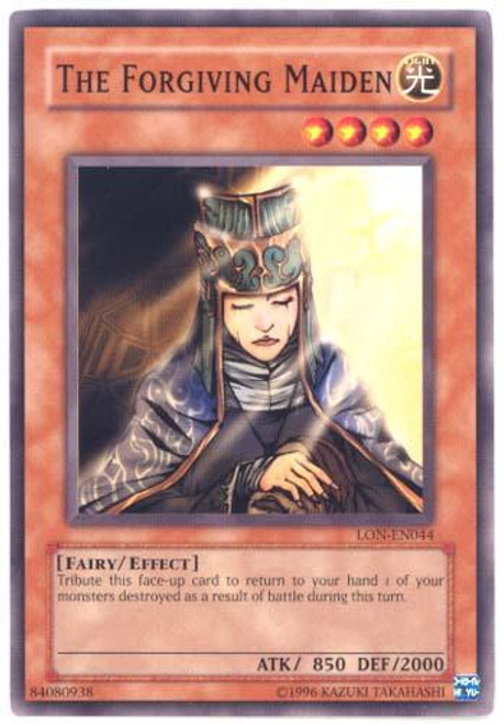 YuGiOh Labyrinth of Nightmare Common The Forgiving Maiden LON-044