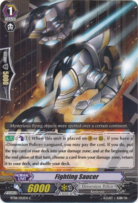 Cardfight Vanguard Blue Storm Armada Common Fighting Saucer BT08-052