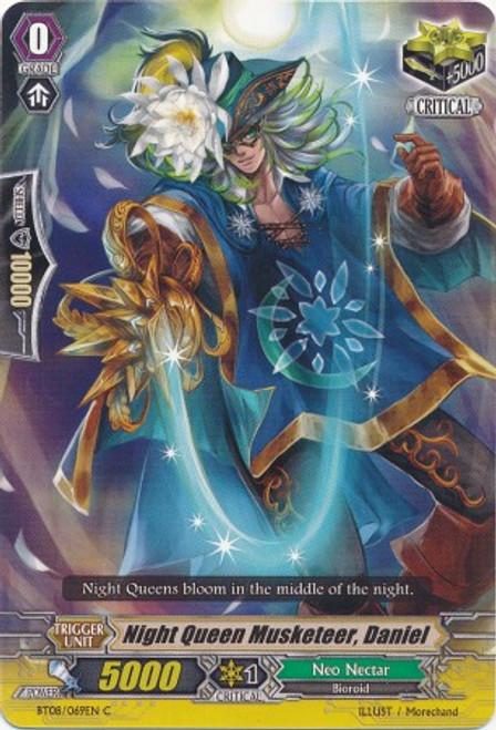 Cardfight Vanguard Blue Storm Armada Common Night Queen Musketeer, Daniel BT08-069