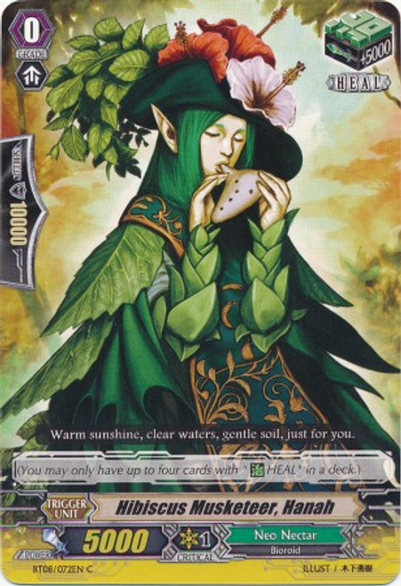 Cardfight Vanguard Blue Storm Armada Common Hibiscus Musketeer, Hanah BT08-072