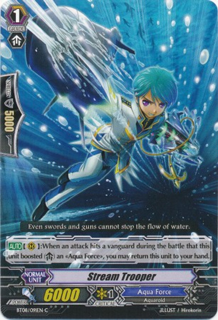 Cardfight Vanguard Blue Storm Armada Common Stream Trooper BT08-091