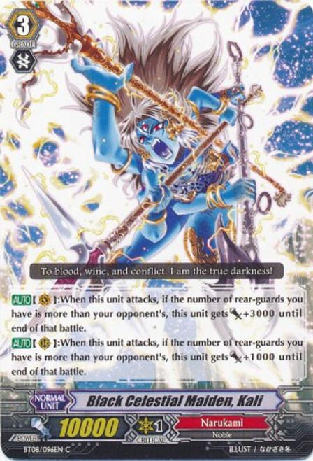 Cardfight Vanguard Blue Storm Armada Common Black Celestial Maiden, Kali BT08-096