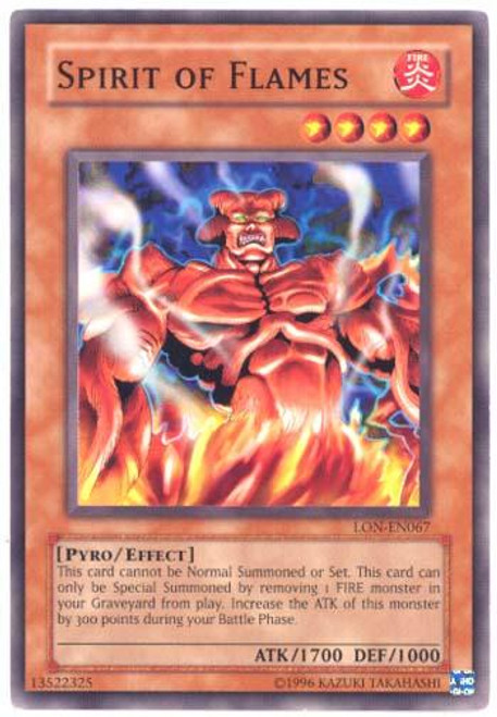YuGiOh Labyrinth of Nightmare Common Spirit of Flames LON-067