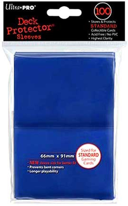 Ultra Pro Card Supplies Deck Protector Blue Standard Card Sleeves [100 ct]