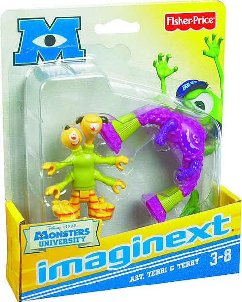 Fisher Price Disney / Pixar Monsters University Imaginext Art, Terri & Terry 3-Inch Mini Figures