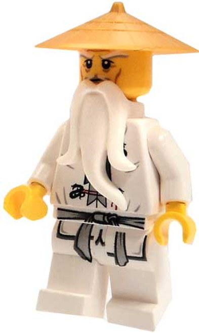 LEGO Ninjago Loose Sensei Wu Minifigure [White Robes & Gold Hat Loose]