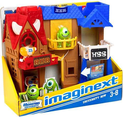 Fisher Price Disney / Pixar Monsters University Imaginext University Row 3-Inch Figure Set