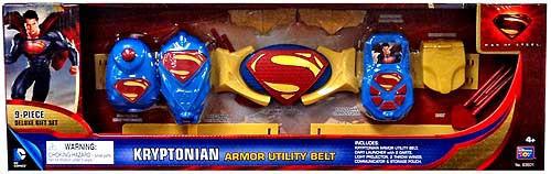 Superman Man of Steel Kryptonian Armor Utility Belt Roleplay Toy