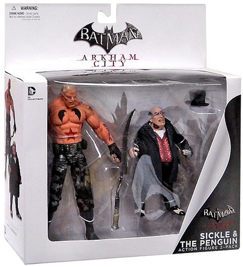 Batman Arkham City Penguin & Sickle Action Figure 2-Pack
