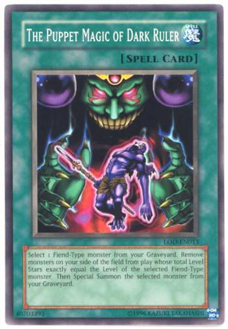 YuGiOh Legacy of Darkness Common The Puppet Magic of Dark Ruler LOD-013