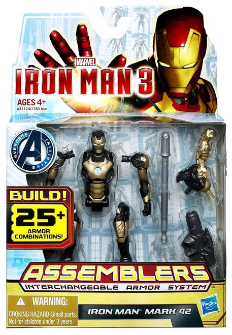 Iron Man 3 Assemblers Iron Man Mark 42 Action Figure [Silver & Black]