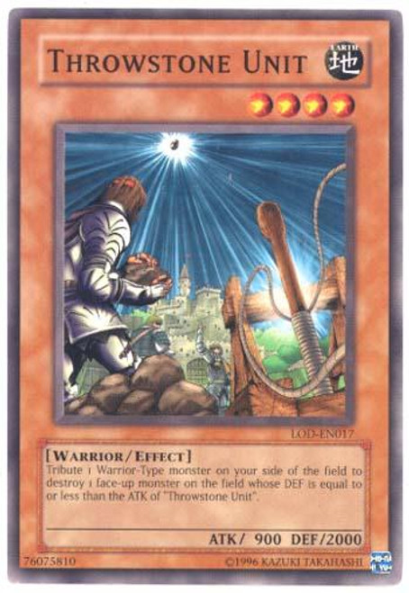 YuGiOh Legacy of Darkness Common Throwstone Unit LOD-017