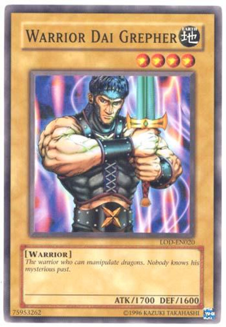 YuGiOh Legacy of Darkness Common Warrior Dai Grepher LOD-020