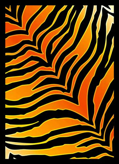 Card Supplies Tiger Print Standard Card Sleeves [50 ct]